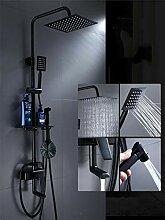 Schwarz Duschsystem Duschzubehör Dusche Kupfer