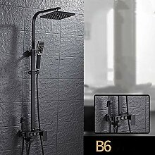 Schwarz Duschsystem Duschzubehör Vier-Gang-Dusche
