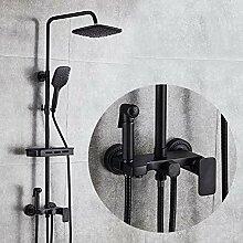 Schwarz Duschsystem Duschzubehör