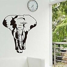 Schwarz Elefant Wandtattoo House Aufkleber abnehmbarer Wohnzimmer Tapete Schlafzimmer Küche Art Bild Wandmalereien Sticks PVC Fenster Tür Dekoration + 3D Frosch Auto Aufkleber Geschenk