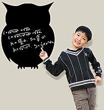 Schwarz Eule Tafel Schreibtafel Wand Aufkleber Home Aufkleber PVC Wandmalereien, Vinyl, Papier, House Dekoration Tapete Wohnzimmer Schlafzimmer Küche Kunst Bild DIY für Kinder Teen Senior Erwachsene Kinderzimmer Baby