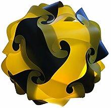 schwarz gelb Deco Lampe 45cm