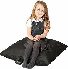 Schwarz, gesteppte, wasserabweisende groß Slab Sitzsack