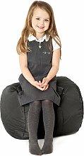 Schwarz, gesteppte, wasserabweisende rund Sitzsack