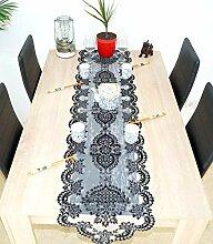 Schwarz Glänzend Tischläufer/Tischdecke mit