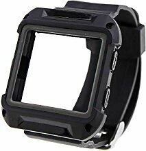 Schwarz Hochwertiges Kunststoff/Silikon Uhr