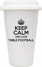 Schwarz Keep Calm und Love Tisch Fußball Eco Tasse TXT 1066