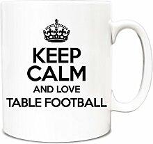Schwarz Keep Calm und Love Tisch Fußball Tasse TXT 1066