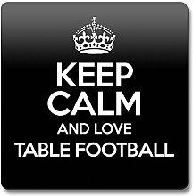 Schwarz Keep Calm und Love Tisch Fußball Untersetzer Farbe 1066