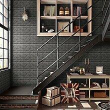 schwarz KINLO 3D Wandpaneele Selbstklebend