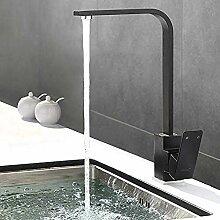 Schwarz Küchenarmatur - Edelstahl Wasserhahn 360