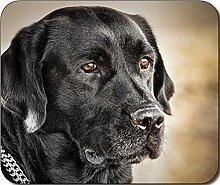Schwarz Labrador groß Hund Mousepad Mauspad tolle Geschenkidee