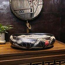 Schwarz Lotus Art Basin chinesische Restaurierung