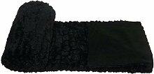 Schwarz Luxuriöses Kunstfell Supersoft Große