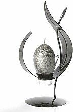 Schwarz Metall und Glas Kerzenhalter | frei