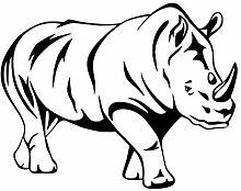 Schwarz Nashorn Wandaufkleber Für Kinderzimmer