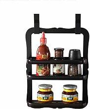 Schwarz Nicht Perforiert Küchenregal Solide Und