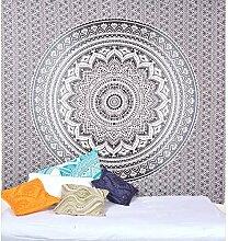 Schwarz Ombre Mandala Tapisserie Wand Kunst Hangings Hippie Wandteppiche Dorm Decor