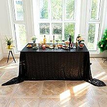 Schwarz Pailletten Tischdecke, Weihnachten