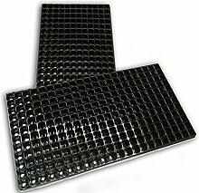Schwarz Plug Pflanze Saatschalen 264Zellen 12x 22mit Ablauflöchern 540mm x 277mm
