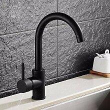 Schwarz Quarz Stein Küche Wasserhahn Drehbar