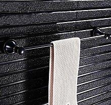 Schwarz Retro Inhaber Handtuchhalter Handtuch Regal Wandhalterung Badezimmer accessoires badezimmer Regal Dusche Home Dekoration Bad-Bad Regale Handtuchhalter 60 cm