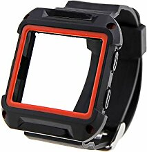 Schwarz+Rot Hochwertiges Kunststoff/Silikon Uhr