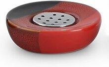 Schwarz Rote Seifenschale - Seifenablage aus
