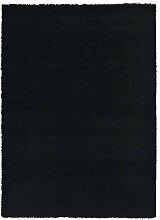 Schwarz Shaggy, schwarz, 140X200 CM - 4'6''X6'6'' FT