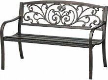 Schwarz Terrassenmöbel Bench–auf
