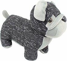 Schwarz und Grau Joppe Hund Türstopper ~ BULL DOG Türstopper