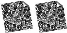 Schwarz und Weiß - 2D Küche- / Badfliesen-Druck