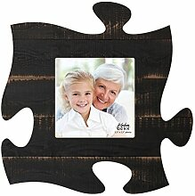 Schwarz Used-Optik 6 x 6 Holz Puzzle Wandschild