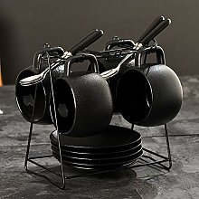 Schwarz Vintages Latte Espresso-Kaffee,