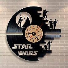 Schwarz Wanduhr Star Wars Vinyl Record Design-