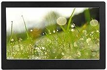 Schwarz/Weiß 10-Zoll-Digitalfotorahmen