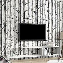 Schwarz Weiß Birke Tapete Für Schlafzimmer