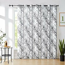 Schwarz-Weiß Durchsichtige Gardinen Wohnzimmer