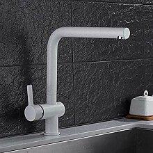 Schwarz/Weiß Messing Küchenarmaturen Deck