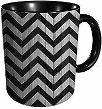 Schwarz Weiß Parkettboden mit geometrischem