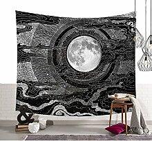Schwarz Weiß Skizzierte Sonne Wandteppiche