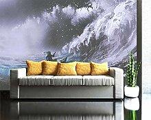Schwarz-Weiß-Tapete für Kinderzimmer Sofa