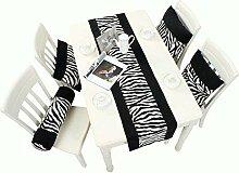 Schwarz-Weiß-Tischläufer, Moderner