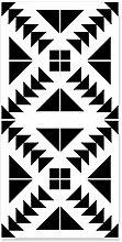 Schwarz-weiße Plaid-Tapetendekor geometrische