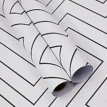 Schwarz-weiße Tapete mit modernem geometrischem