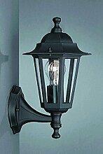 Schwarze Außenlampe Wandleuchte stehend von Philips/Massive Außenleuchte Wandlampe für Hof und Garten