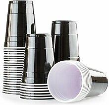 Schwarze Bechern 100x Black Cups -Beer Pong