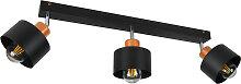Schwarze Deckenstrahler Deckenlampe 3PRST6005MO