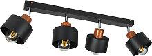 Schwarze Deckenstrahler Deckenlampe 4PRST6005MO