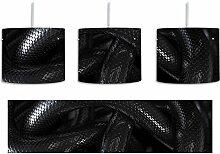 Schwarze elegante Schlange inkl. Lampenfassung